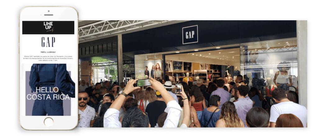 la inauguración de la tienda de Gap en el centro comercial Avenida Escazú