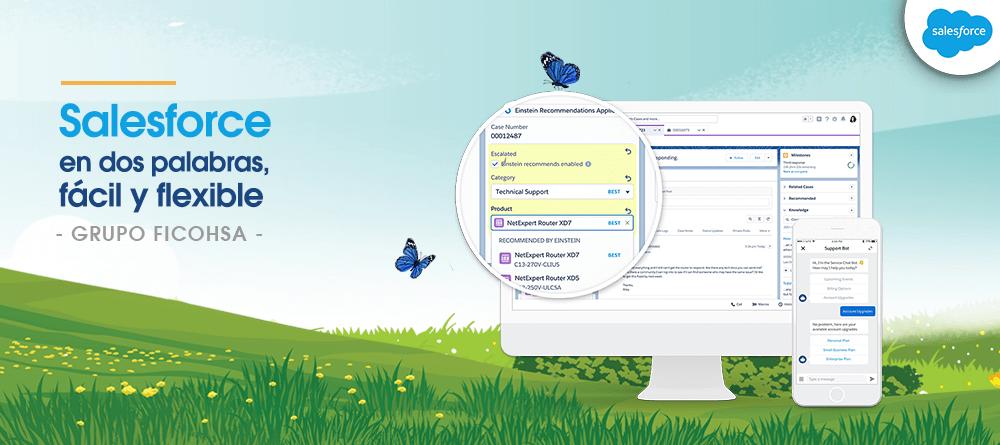 Salesforce en dos palabras, fácil y flexible