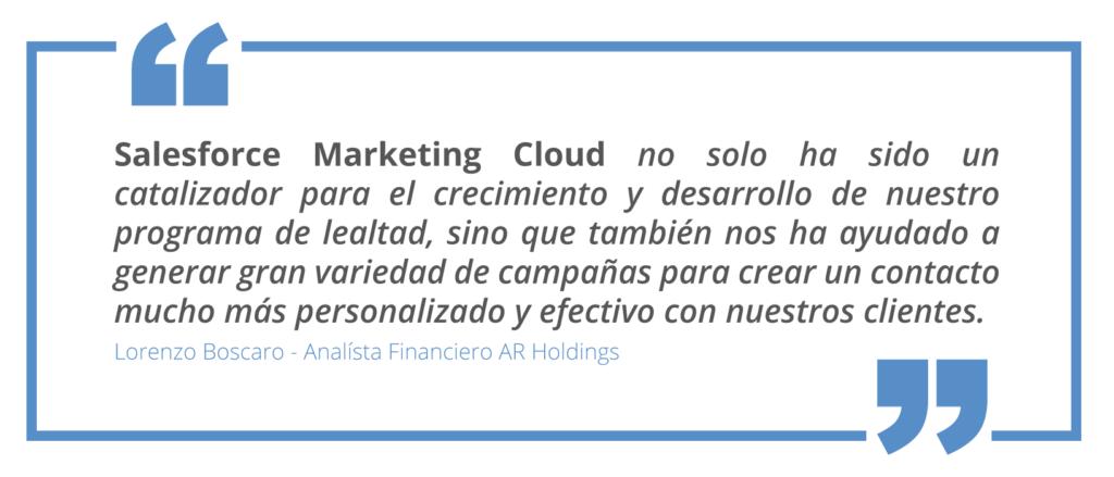 Implementación de Salesforce Marketing Cloud, catalizador del crecimiento de programa de lealtad
