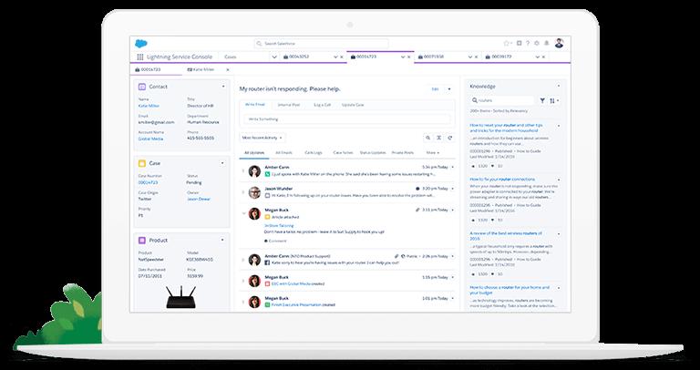 Consola de Servicio, Salesforce Service Cloud